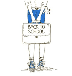 Back to school with boy vector image