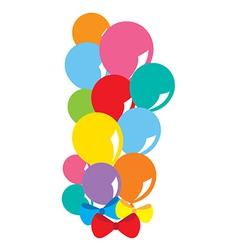 Balloons Bunch vector image vector image