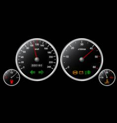 Car's dashboard vector image vector image