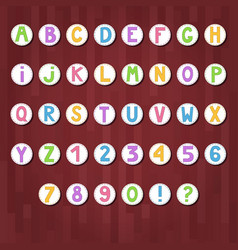 cartoon colored alphabet letters and numbers in vector image