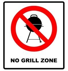 No bbq allowed - ban sign warning banner vector