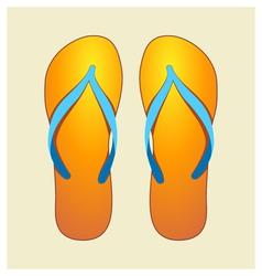orange flip-flops vector image vector image