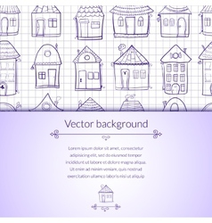 outine houses vector image