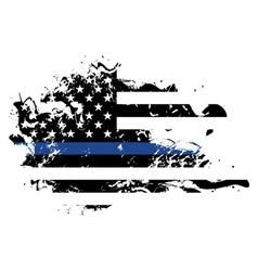 Police support grunge flag vector