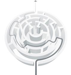Simple white maze vector