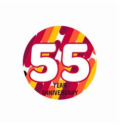 55 year anniversary purple template design vector
