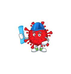 A clever architect dangerous coronaviruses a hat vector