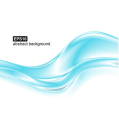 abstract blue waves background design vector image