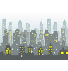 abstract of big city vector image