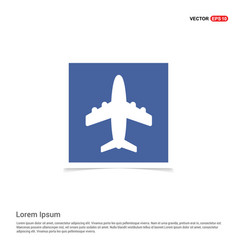 Airplane icon - blue photo frame vector