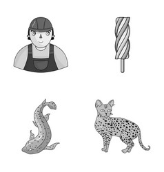 animal cooking and other monochrome icon in vector image