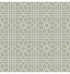 Arabic geometric seamless pattern vector image