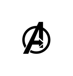Avengers logo isolated icon symbol clipart vector