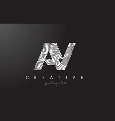 Ay a y letter logo with zebra lines texture vector