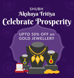 Banner design shubh akshaya tritiya vector
