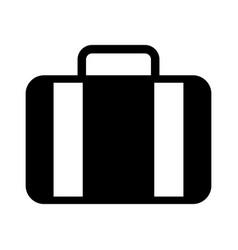 Black icon suitcase table cartoon vector