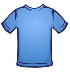 Blank blue tee shirt blank cartoon vector