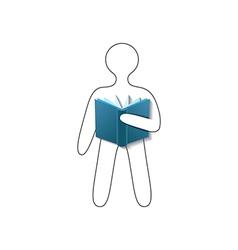 Book reader conceptual sign vector image