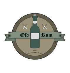 bottle emblem in old style vector image
