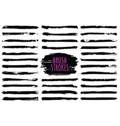 Brush strokes collection hand drawn brush strokes vector