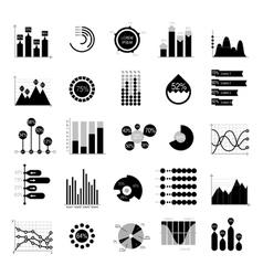 Business data graph analytics elements vector