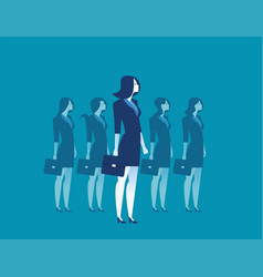 businesswoman leadership standing vector image