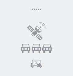 car connected to satellite - web icon vector image