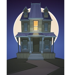 Cartoon Haunted House vector image