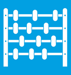 children abacus icon white vector image
