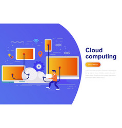 cloud computing modern flat concept vector image