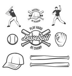 collection baseball logo and insignias vector image