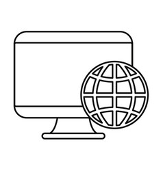 computer world on white background vector image