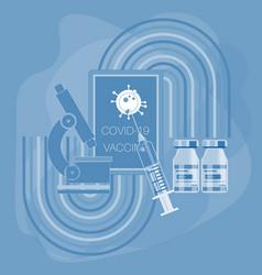 covid19 vaccine showing coronavirus novel vector image