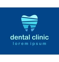 denta clinic logo vector image