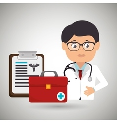 doctor medical icon vector image
