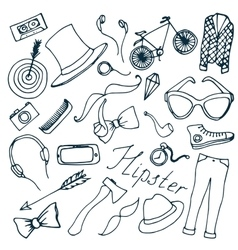 Doodle vektor hipster vector