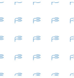 Earphone wire icon pattern seamless white vector