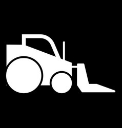 Excavator solid icon isolated vector