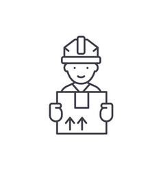 express delivery line icon concept express vector image