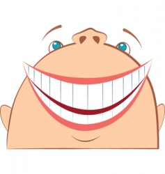 face laughing vector image