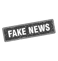 Fake news stamp fake news vintage black label sign vector
