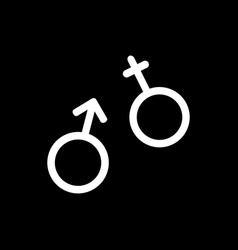 flat line gender icon vector image