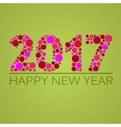 Happy new year 2017 design vector image