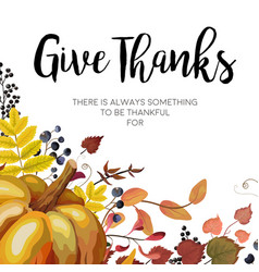 happy thanksgiving greeting card postcard design vector image