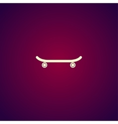 icon of skateboard vector image