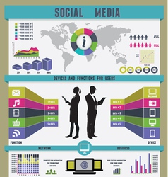 infographic social media vector image