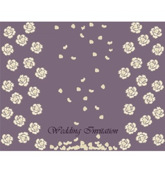 Invitation card with roses vector