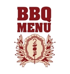 Isolated bbq menu and steak house design vector