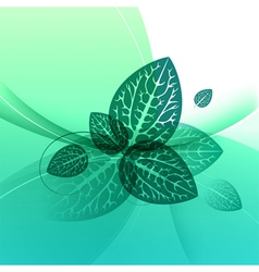 Leaves design abstract green background vector