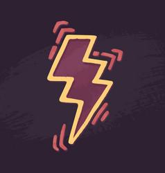 Lightning symbol feminism vector